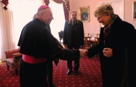 Obitelj službenice Božje Marije Krucifikse Kozulić posjetila nadbiskupa Devčića